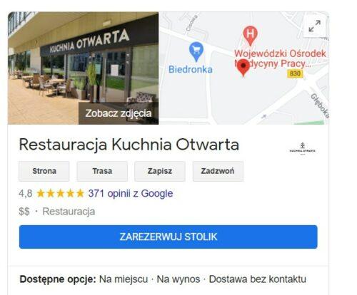 Ciekawostki OGoogle Restauracja