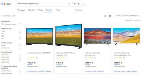 Google Zakupy 2021