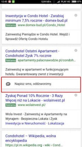 SMS'y prosto zreklam wGoogle loading=