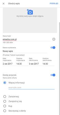 Wpisy informacyjne w Google Maps