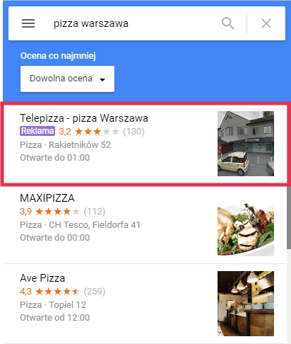 Reklama w Google Maps Adwords Lublin