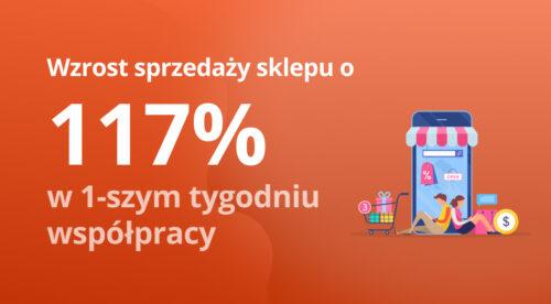 Wzrost sprzedaży sklepu o117% wpierwszym tygodniu współpracy reklamowej loading=