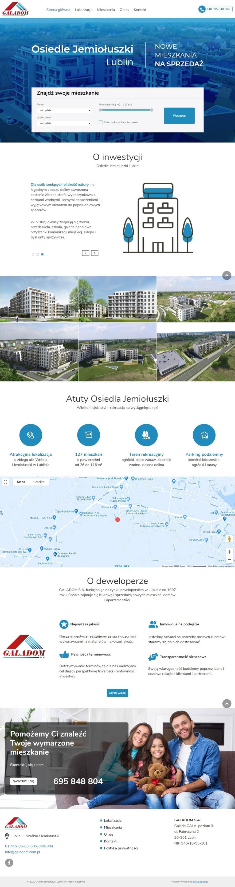Strona internetowa jemioluszki.galadom.pl - zrzut desktop