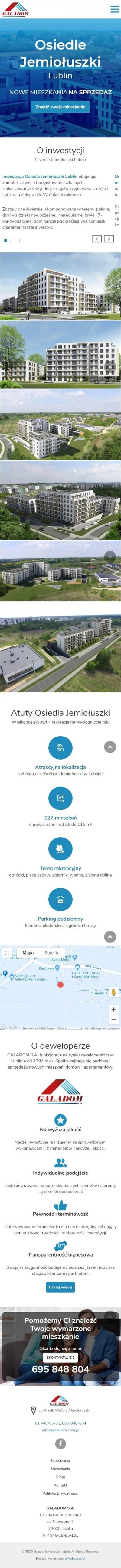 Strona internetowa jemioluszki.galadom.pl - zrzut mobile