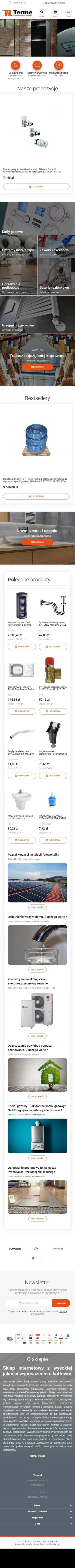 Sklep internetowy terme.pl - zrzut mobile