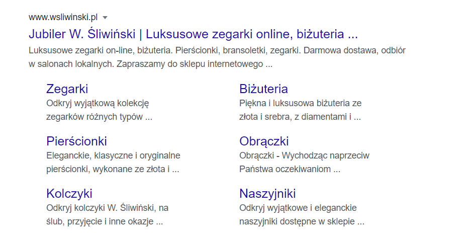 Dane Strukturalne Sklepu Internetowego
