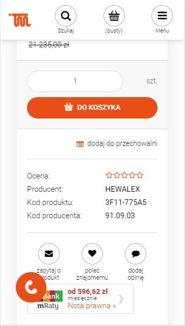 Heurystyka Nielsena Sticky Menu Sklep Internetowy Warszawa