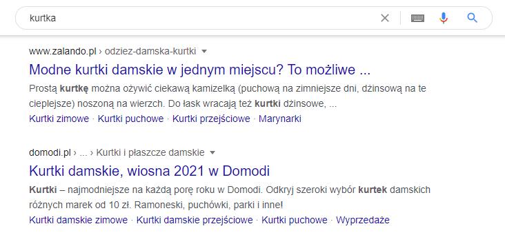 Jak wyglądają wyniki wyszukiwania Google