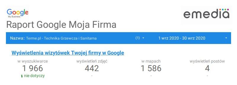 Terme Raport Google Moja Firma Wrzesien2020